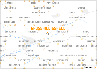 map of Groß Hilligsfeld