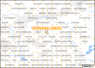 map of Großhülsberg