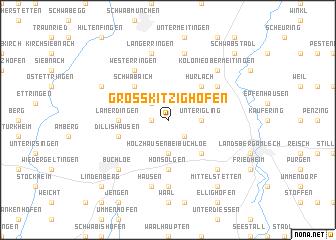 map of Großkitzighofen