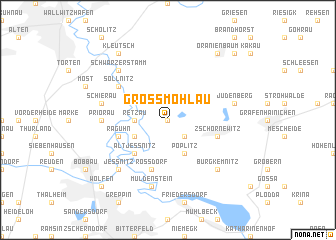 map of Großmöhlau