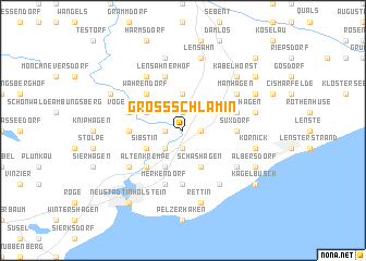 map of Groß-Schlamin