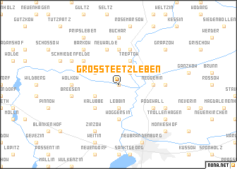 map of Groß Teetzleben