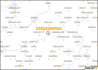 map of Groß Warnow