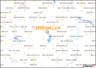 map of Groß Welzin