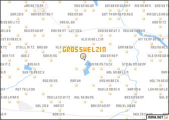 map of Groß Welzin