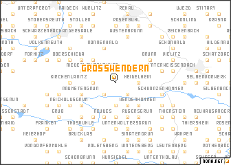 map of Großwendern