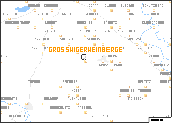 map of Großwiger Weinberge