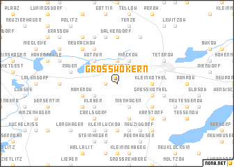 map of Groß Wokern