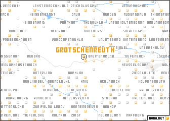 map of Grötschenreuth