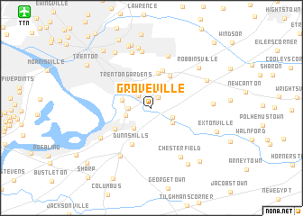 map of Groveville