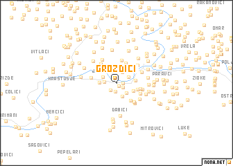 map of Grozdići