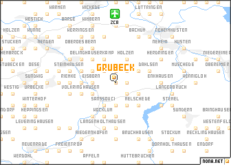 map of Grübeck
