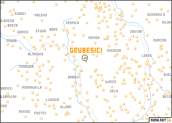 map of Grubešići