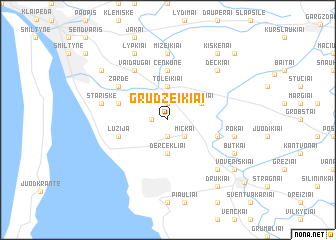 map of Grudžeikiai