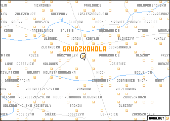 map of Grudzkowola