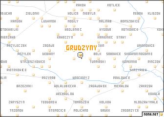 map of Grudzyny