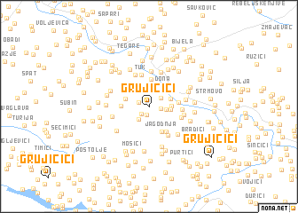 map of Grujičići