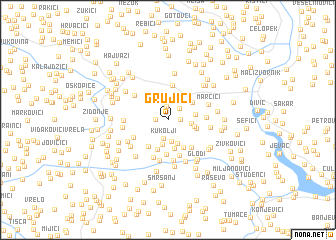 map of Grujići