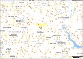 map of Grujići