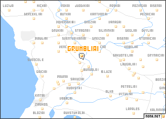 map of Grumbliai