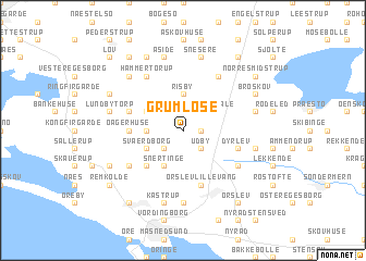 map of Grumløse