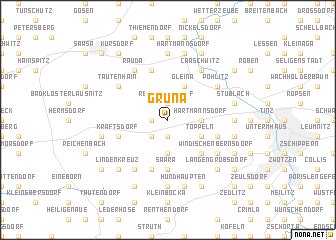 map of Grüna