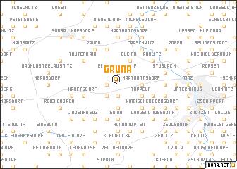 map of Grüna