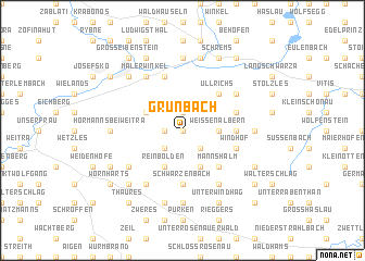 map of Grünbach