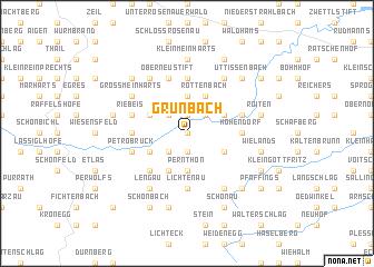 map of Grünbach