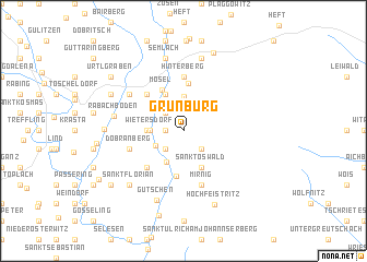 map of Grünburg