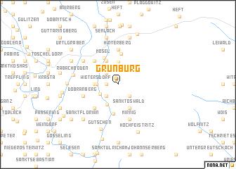map of Grünburg