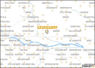 map of Grunddorf