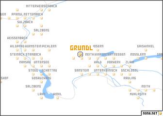 map of Gründl