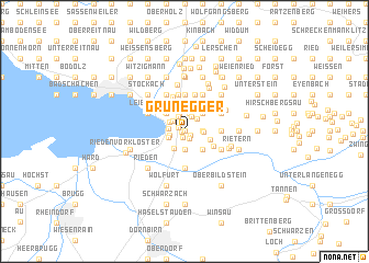 map of Grünegger