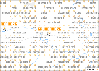 map of Grünenberg