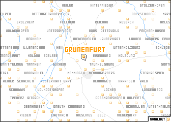 map of Grünenfurt