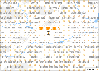 map of Grunewald