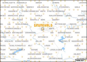 map of Grünewald