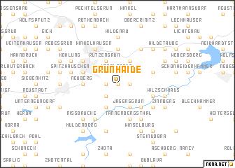 map of Grünhaide