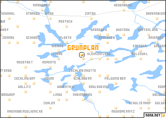 map of Grünplan