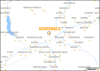 map of Grünsbach