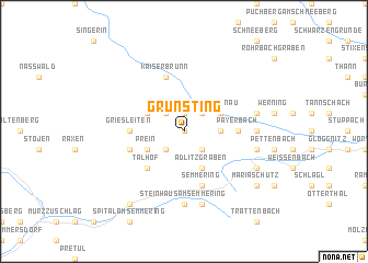 map of Grünsting