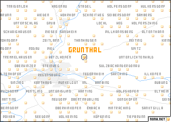map of Grünthal