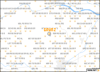 map of Grünz