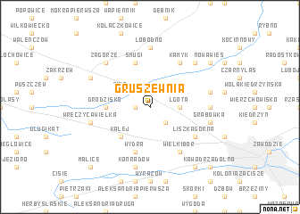 map of Gruszewnia