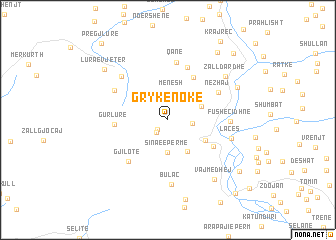 map of Grykë-Nokë