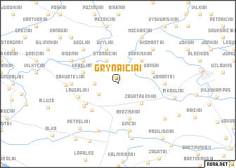 map of Grynaičiai