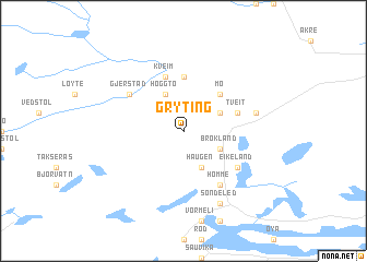 map of Gryting