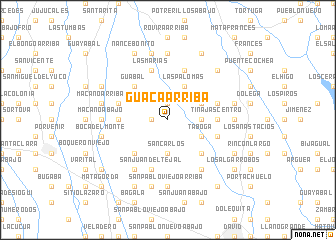map of Guacá Arriba