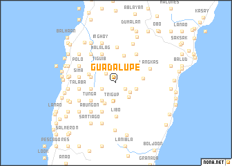 Guadalupe Philippines map nona